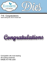 Elizabeth Craft Designs - Die - Congratulations