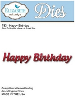 Elizabeth Craft Designs - Die - Happy Birthday