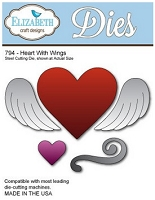 Elizabeth Craft Designs - Die - Heart w/ Wings