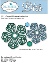 Elizabeth Craft Desings - Die - Crystal Flower Overlay Set 1
