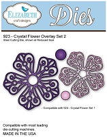 Elizabeth Craft Desings - Die - Crystal Flower Overlay Set 2