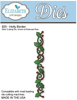 Elizabeth Craft Desings - Die - Holly Border