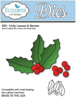 Elizabeth Craft Desings - Die - Holly Leaves & Berries