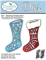 Elizabeth Craft Desings - Die - Stocking Overlay Set 1