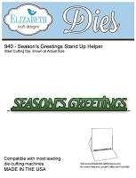 Elizabeth Craft Desings - Die - Season's Greetings Stand Up Helper