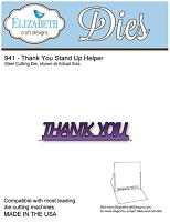 Elizabeth Craft Desings - Die - Thank You Stand Up Helper