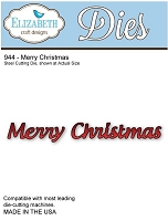 Elizabeth Craft Desings - Die - Merry Christmas