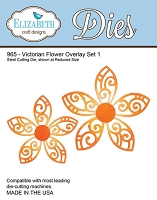 Elizabeth Craft Designs - Die - Victorian Flower Overlay Set 1