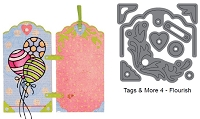 Elizabeth Craft Designs - Die - Tags & More 4 (flourish)