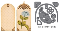 Elizabeth Craft Designs - Die - Tags & More 6 (daisy)