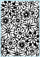 Elizabeth Craft Designs - Embossing Folder - Bouquet (A2)