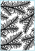 Elizabeth Craft Designs - Embossing Folder - Sprig (A2)