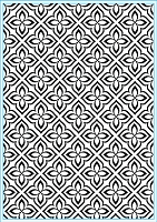 Elizabeth Craft Designs - Embossing Folder - Flower Mosaic (A2)