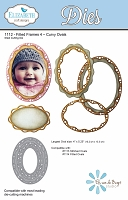 Elizabeth Craft Designs - Die - Fitted Frames 4 - Curvy Ovals