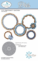 Elizabeth Craft Designs - Die - Fitted Frames 5 - Lace Circles