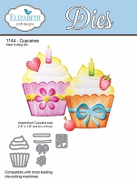 Elizabeth Craft Designs - Die - Cupcakes