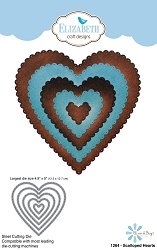 Elizabeth Craft Designs - Die - Scalloped Hearts