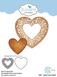 Elizabeth Craft Designs - Die - Leafy Lace Heart