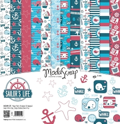 Elizabeth Craft Designs - 6X6 Paper Pad - Sailor's Life by ModaScrap