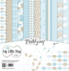 Elizabeth Craft Designs - 6X6 Paper Pad - My Little Boy by ModaScrap