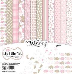 Elizabeth Craft Designs - 6X6 Paper Pad - My Little Girl by ModaScrap