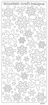 Elizabeth Craft Peel Off Sticker - Snowflakes ( Gold )