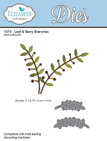 Elizabeth Craft Designs - Die - Leaf & Berry Branches