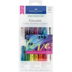 Faber-Castell - Gelatos Color Kit - Iridescents (12 colors)