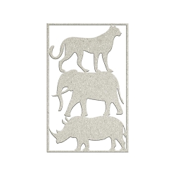 Fab Scraps - Call From The Wild Collection - Die-Cut Chipboard Embellishment - 3 Wild Animals
