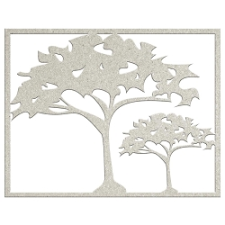 Fab Scraps - Call From The Wild Collection - Die-Cut Chipboard Embellishment - Savannah Trees