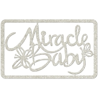 Fab Scraps - Royal Baby Collection - Die-Cut Chipboard Embellishment - Miracle Baby