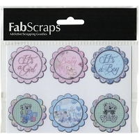 Fab Scraps - Royal Baby Collection - Circle Sticker sheet