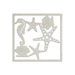 Fab Scraps - Summer Loving Collection - Die-Cut Chipboard Embellishment - Seahorse & Starfish