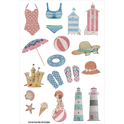 Fab Scraps - Summer Loving Collection - Beach Day Large Stickers