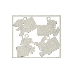 Fab Scraps - Sweet Baby Collection - Die-Cut Chipboard Embellishment - Animal Blocks B