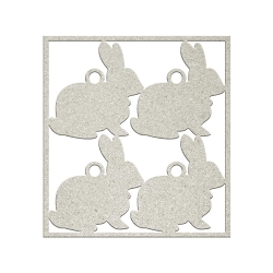 Fab Scraps - Sweet Baby Collection - Die-Cut Chipboard Embellishment - Bunnies