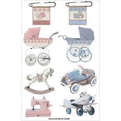 Fab Scraps - Sweet Baby Collection - Baby Boy & Girl Clear Stickers