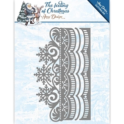 Find It Trading - Amy Design Die - The Feeling of Christmas Ice Crystal Border