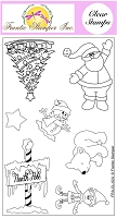 Frantic Stamper Clear Stamp Set - At The North Pole