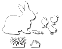 Frantic Stamper - Precision Dies - Easter Bunny & Chicks