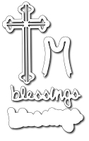 Frantic Stamper - Precision Dies - Blessings & Cross (set of 4 dies)