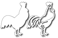 Frantic Stamper - Precision Dies - Rooster (set of 2 dies)