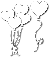 Frantic Stamper Precision Die - Heart Balloons (set of 4 dies)
