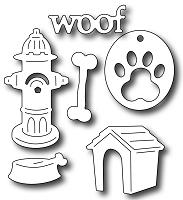 Frantic Stamper Precision Die - Dog Icons (set of 6)