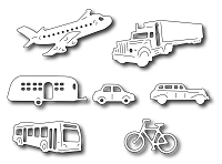 Frantic Stamper Precision Die - Transportation Icons (set of 7 dies)