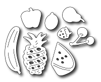 Frantic Stamper Precision Die - Fresh Fruit Icons (set of 8 dies)
