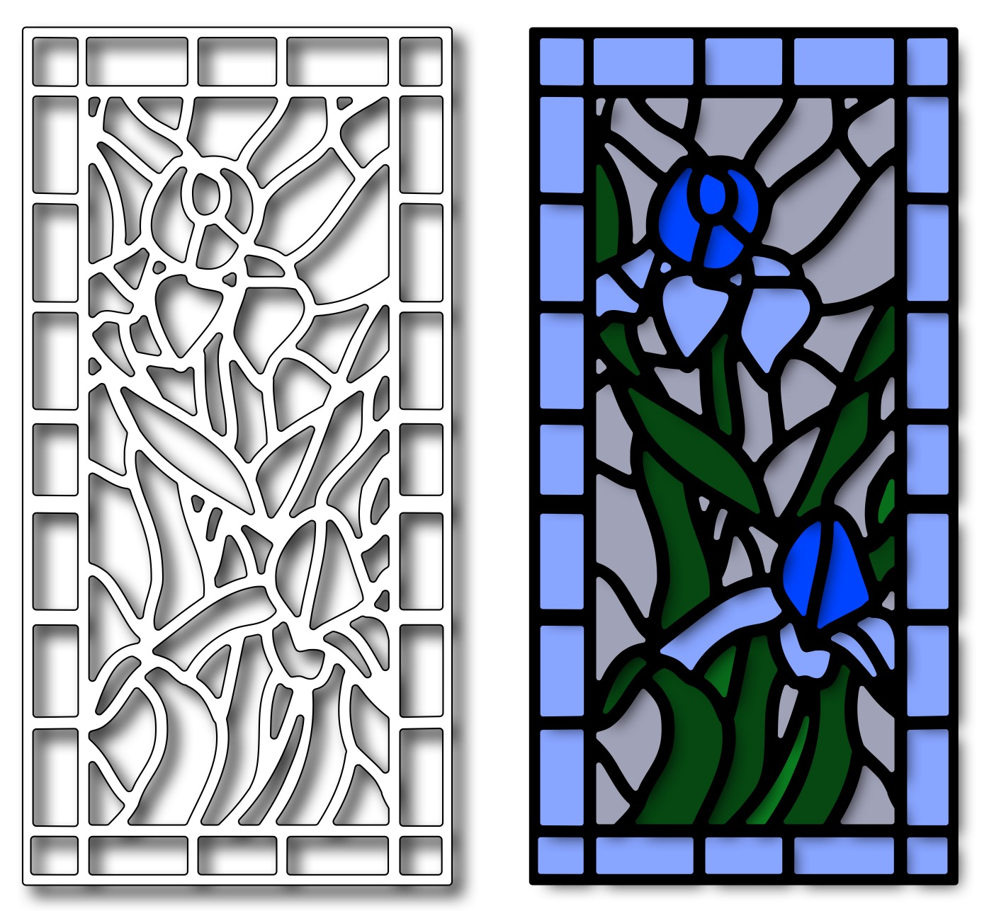 Image result for FRAntic  stamper iris stained glass