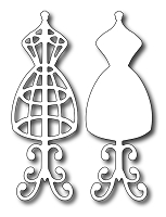 Frantic Stamper - Precision Dies - Vintage Dress Forms (Set of 2)