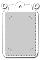 Frantic Stamper - Precision Dies - Gift Card Tag (and Hole Reinforcements)