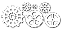 Frantic Stamper - Precision Dies - Large and Small Gears (set of 6 dies)